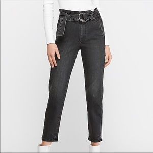EXPRESS Super High Waisted Paperbag Jeans